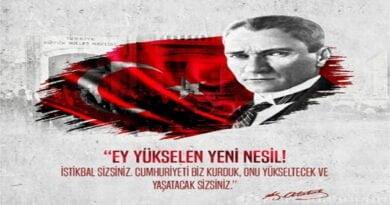 29 Ekim Cumhuriyet Bayramının 97'nci Yıl Dönümü Tüm Halkımıza kutlu olsun.